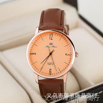 潮翻天!中性男女款手表批发 进口皮质 韩 女士手表 男款优质手表