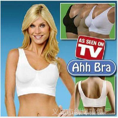 外贸 单层ahh bra 美女标睡眠背心 文胸背心 Slim life女式小背心