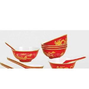 供应高温红瓷釉中彩餐具