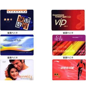 供应PVC卡工作证卡、贵宾卡、优惠卡、会员卡