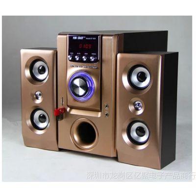 韩国现代HY-595无线蓝牙多媒体2.1有源音响大功率电脑音箱低音炮