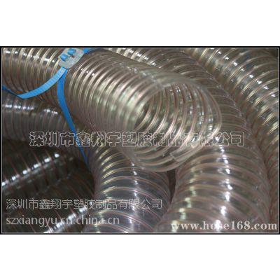 深圳木工机械用管,透明钢丝管,PU耐磨吸尘管