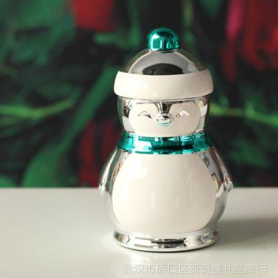 淘宝店铺批发 ZAKKA  可爱卡通烛台 企鹅麋鹿陶瓷摆件D-29