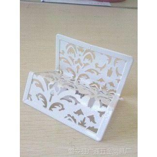 厂家直供各种精美花形图案金属多层名片架喷塑(图)
