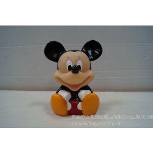 供应东莞搪胶玩具厂 搪胶米奇老鼠玩具公仔 动漫卡通公仔生产厂家