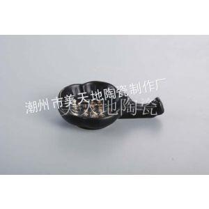 供应日韩料理餐具  日式陶瓷碟  日式和风系列  黑色文字陶瓷碟