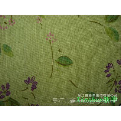 新申品牌系列产品 走红盛泽东方市场 亚麻粘交织平纹 印花面料