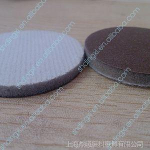 供应CNC机械手打磨用海绵砂纸 2寸植绒粘扣海绵砂纸 五金加工海绵砂纸