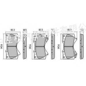 供应CR酷跑刹车片/适用于陆地巡洋舰08款、酷路泽RZJ200