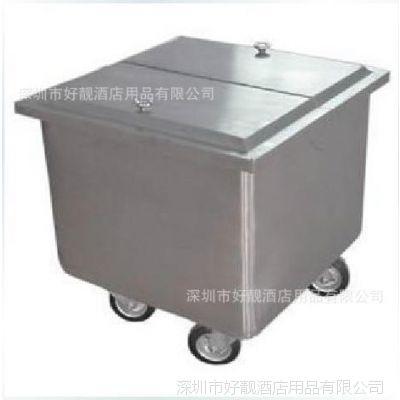 不锈钢糖粉车 面粉车 酒店用品 酒店设备 厨房设备 揭盖式带刹车