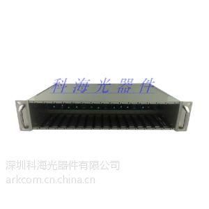 供应【厂家直销】100M自适应插卡式收发器,双纤单向ST接口 光纤收发器