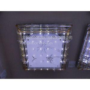 供应供应卧室灯客厅水晶灯 现代LED圆形吸顶餐厅灯 厂家灯具灯饰