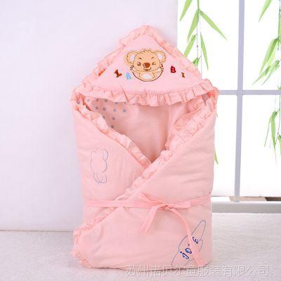 2014新款新生儿抱毯 汤博士6210字母熊全棉抱被 宝宝抱毯 空调被