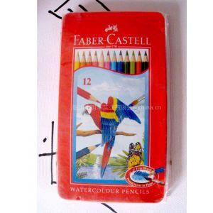 供应辉柏嘉12色红铁盒水溶性铅笔