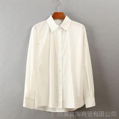 P1116  2014春夏款PARISKY韩版女装动漫印花白色衬衫衬衣女
