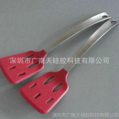 硅胶厨具 硅胶烹饪勺铲套装 不锈钢手柄硅胶漏铲 硅胶锅铲