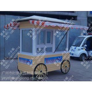 供应湖州景区实木售货车,绍兴户外时尚特色售卖车