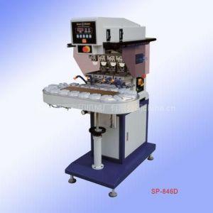 供应SP-846D气动输送带转盘四色移印机