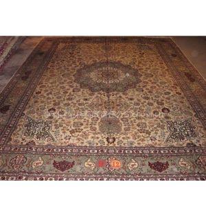 供应厂家直销欧式客厅手工波斯地毯 手工打结真丝大地毯