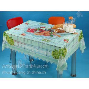 供应PVC塑料桌布,PVC透明印花桌布,10元特卖桌布