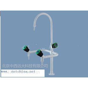 供应三口实验室水龙头 铜的 接口4分 型号:HBXW-WJH0731-1 库号:M305902