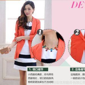 供应2013年春夏新款韩版亚麻修身休闲小西装西服外套 薄款 1 2199