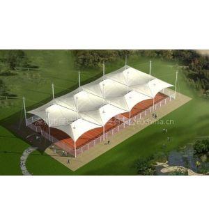 供应新型网球场遮阳景观膜小品