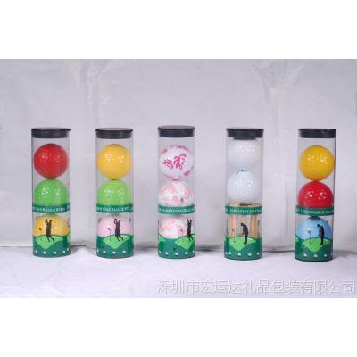 供应高尔夫圆桶套装 2个球+球钉 高尔夫包装桶礼品套装