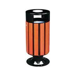 供应邯郸钢木垃圾桶、校园专用果皮桶、园艺分类垃圾桶