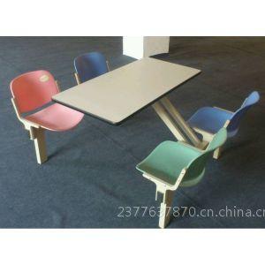 供应广东餐桌椅厂家 佛山四人连体塑钢餐桌厂家 四人位餐桌