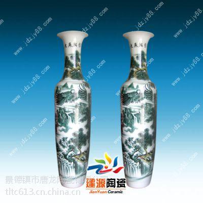 供应陶瓷花瓶图片 酒店宾馆开业大摆件 景德镇青花瓷大花瓶