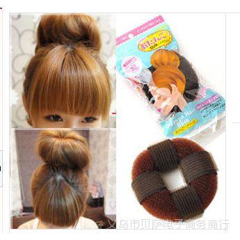 A3-53日系自粘款甜甜圈 头发增高器 蓬蓬垫 长发变短发盘发器