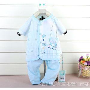 供应童夏装 婴幼锦友竹纤维短袖加七分裤套装 童家居服套装 1358