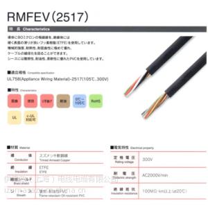 供应日本大电(DYDEN)RMFEV2517拖链电缆