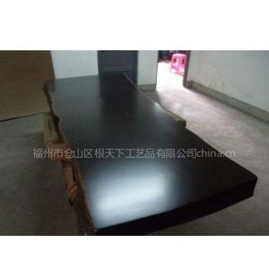 供应福州根天下黑檀实木大板老板办公桌办公家具桌餐桌茶桌大班台主管桌子
