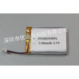 供应厂家供应603450 1100mah 医疗机械仪器仪表专用耐高温聚合物锂电池