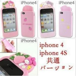 供应本卡通硅胶套iPhone4iPhone4s外壳保护套厂家