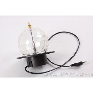 供应LED七彩旋转灯舞台灯LED旋转彩灯泡水晶魔球灯激光灯 舞台灯