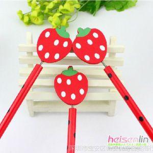 供应韩国文具 可爱卡通甜美 草莓造型 木质铅笔 写字笔 学生礼品 B16