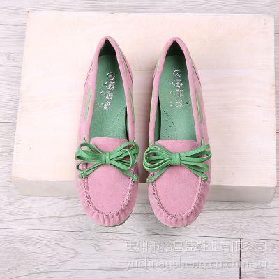潮春秋新款韩版单鞋浅口豆豆鞋拼色圆头平跟平底工作鞋护士鞋女鞋