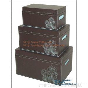 厂家现货供应 高档皮质储物盒 pu收纳盒三件套装 多功能储物盒