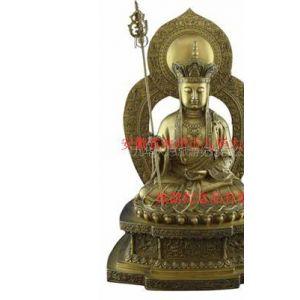供应铜艺品佛像 地藏王菩萨坐像
