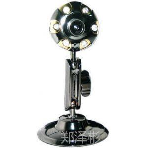 供应莲花六灯 免驱高清摄像头 电脑摄像头 内置麦克风 金属外壳
