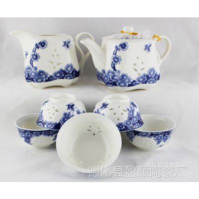 供应功夫茶具 玲珑茶具套装 高档纯手工套装茶具  潮州功夫茶具