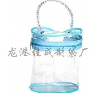 供应温州塑料PVC袋 pvc手提拉链袋厂家