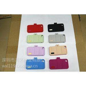 供应编织网苹果4/4S手机套 iphone5硅胶保护壳