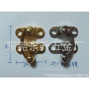 供应加工铁料43*33mm牛角锁 木盒锁 日字锁 方形锁 按制锁 压铸太平锁 礼品盒圆锁