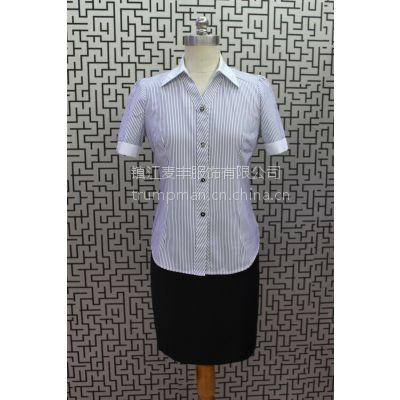 供应修身个性条纹棉质女衬衫