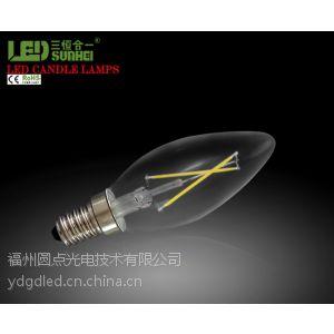 供应LED灯丝灯泡LED球泡蜡烛泡 尖泡 水晶灯吊灯专用新品1.8WE14灯泡