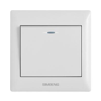 供应SIMIOENGX1系列白色墙壁工程开关 工程开关面板250V10A